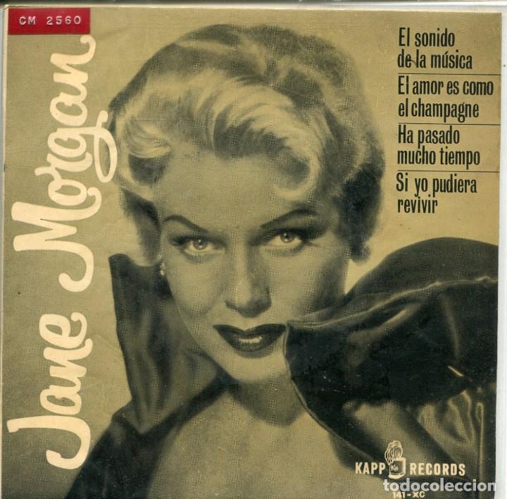 JANE MORGAN / EL SONIDO DE LA MUSICA + 3 (EP 1964) (Música - Discos de Vinilo - EPs - Jazz, Jazz-Rock, Blues y R&B)