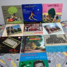 Discos de vinilo: LOTE DE 10 MAXI SINGLES VINILO. TEMA PAÍS VASCO AÑOS 60. Lote 146620798