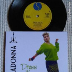 Discos de vinilo: MADONNA - '' DRESS YOU UP / I KNOW IT '' SINGLE 7'' UK 1984 UNIQUE PICTURE. Lote 146636534