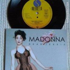 Discos de vinilo: MADONNA - '' DEAR JESSIE / TILL DEATH DO US PART '' SINGLE 7'' UK 1989 UNIQUE PICTURE. Lote 146637610