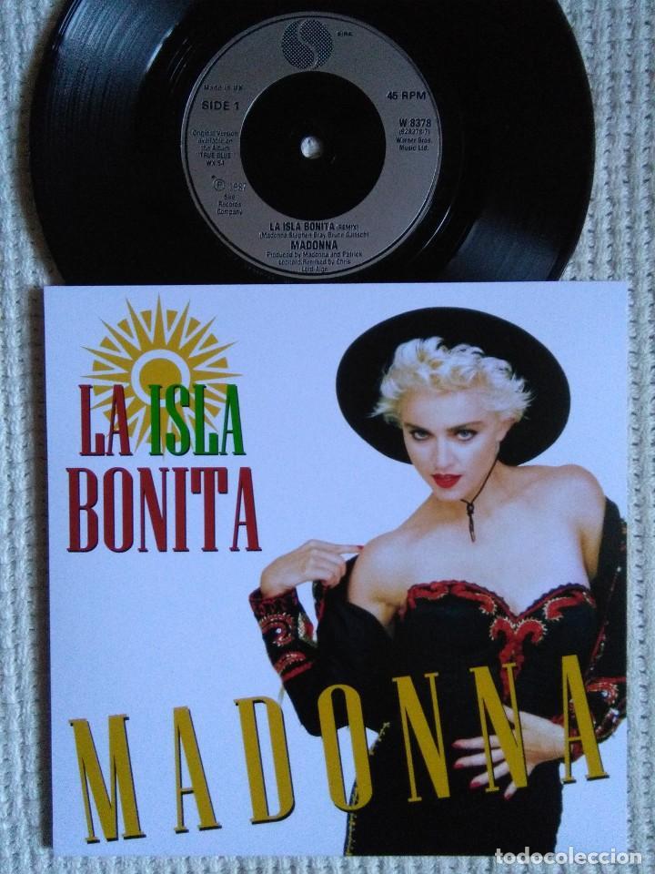 MADONNA '' LA ISLA BONITA / INSTRUMENTAL '' SINGLE 7'' UK 1987 UNIQUE PICTURE (Música - Discos de Vinilo - Singles - Pop - Rock Extranjero de los 80)