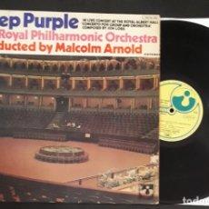 Discos de vinilo: DISCO LP VINILO DEEP PURPLE & THE ROYAL PHILHARMONIC ORCHESTRA CONCERTO FOR GROUP AND ORCHESTRA. Lote 289491428