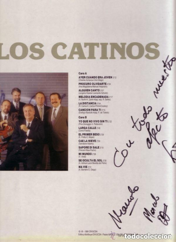 Discos de vinilo: Los Catinos– Canciones Románticas - LP SPAIN 1991 - Foto 2 - 146654498