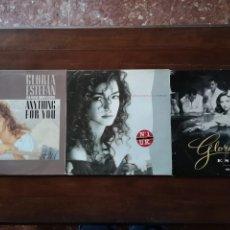 Discos de vinilo: 3 DISCOS DE GLORIA ESTEFAN ... ANYTHINF FOR YOU, CUTS BOTH WAYS, MI TIERRA. Lote 146674102