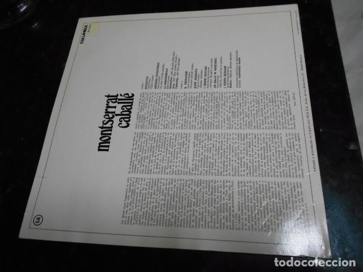 Discos de vinilo: vinilo de monserrat caballe año 1974 muy bien conservado - Foto 2 - 146674282