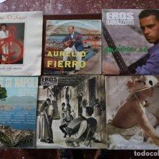 Discos de vinilo: 6 DISCOS MÚSICA ITALIANA: PINO D'ANGIÓ, EROS RAMAZZOTTI, AURELIO FIERRO, VALERIE DORE. Lote 146675006