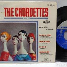 Discos de vinilo: THE CHORDETTES - EP SPAIN PS - PROMO - MINT * GOODBYE AGAIN * HISPAVOX 237-04. Lote 146710418