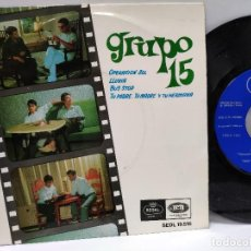 Discos de vinilo: GRUPO 15 - EP SPAIN PS - MINT * BUS STOP / OPERACION SOL / LLUVIA + 1 * REGAL 1966. Lote 146711538