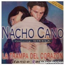 Discos de vinilo: NACHO CANO FEATURING GISELA – LA TRAMPA DEL CORAZÓN (DANCE VERSION) - MAXI-SINGLE SPAIN 1996. Lote 146720378