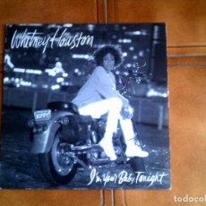 Discos de vinilo: LP DE WHITNEY HOUSTON LP ,IM YOUR BABY TONIGHT. Lote 149955272