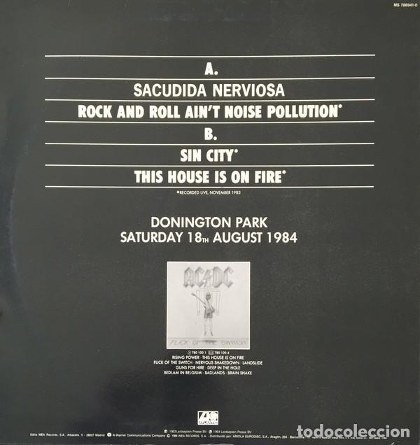 Discos de vinilo: AC/DC – Nervous Shakedown Vinyl, 12, 45 RPM ep spain Hard Rock - Foto 2 - 146730414