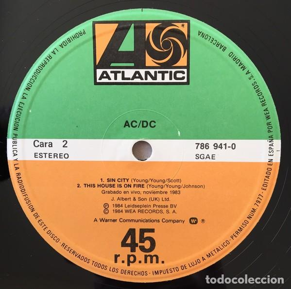 Discos de vinilo: AC/DC – Nervous Shakedown Vinyl, 12, 45 RPM ep spain Hard Rock - Foto 4 - 146730414