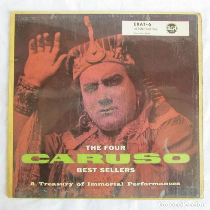 EP THE FOUR CARUSO BEST SELLERS A TREASURY OF IMMORTAL PERFORMANCES (Música - Discos de Vinilo - EPs - Clásica, Ópera, Zarzuela y Marchas)