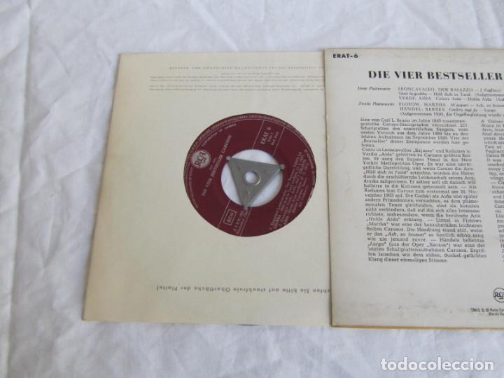 Discos de vinilo: EP The four Caruso Best Sellers A treasury of immortal performances - Foto 3 - 146750146