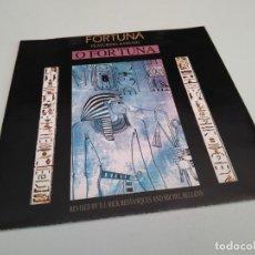 Discos de vinilo: FORTUNA - O FORTUNA / VINILO SINGLE IMPORT TEMAZO. Lote 146752574