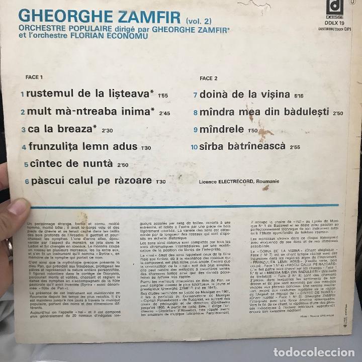 Discos de vinilo: Gheorghe Zamfir LExtraordinaire Flute De Pan De Gheorghe Zamfir Vol.2 - Foto 2 - 146760146
