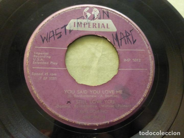 Discos de vinilo: FAST DOMINO. BLUEBERRY HILL/IT'SYOU I LOVE/I STILL LOVE YOU/YOU SAID .... EP IMPERIAL IMP 5012. - Foto 3 - 146768090