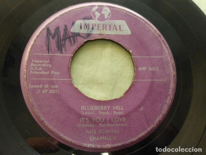 Discos de vinilo: FAST DOMINO. BLUEBERRY HILL/IT'SYOU I LOVE/I STILL LOVE YOU/YOU SAID .... EP IMPERIAL IMP 5012. - Foto 4 - 146768090