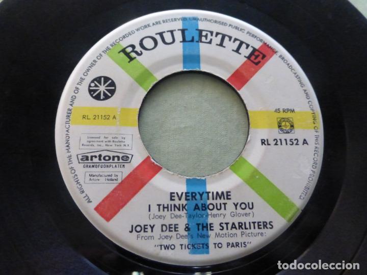 JOEY DEE & THE STARLITERS – EVERYTIME (I THINK ABOUT YOU) RARA EDICIÓN HOLANDESA. RL 21152 (Música - Discos de Vinilo - EPs - Rock & Roll)