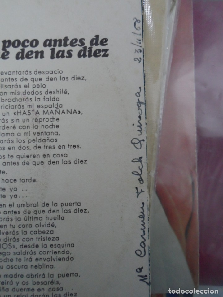 Discos de vinilo: ** JOAN MANUEL SERRAT - MANUEL / POCO ANTES DE QUE DEN LAS DIEZ - SG AÑO 1968 - LEER DESCRIPCIÓN - Foto 2 - 42351739