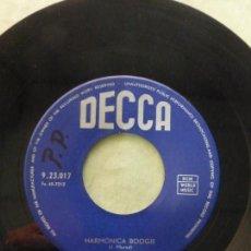 Discos de vinilo: LES CANDIDO. HARMONICA BOOGIE / RED DEVILS BOOGIE. DECCA 9.23.017. BELGIUM. SINGLE RARO. Lote 146773254