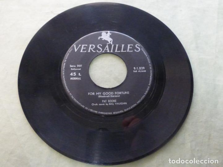 Discos de vinilo: Pat Boone – Gee, But Its Lonely / For My Good Fortune. 9-1.039 VERSAILLES. RARA EDICIÓN - Foto 2 - 146775010