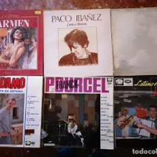 Discos de vinilo: 6 DISCOS DE ADAMO, FRANCK POURCEL, PACO IBAÑEZ, GEORGES BRASSENS, ÓPERA DE CARMEN. Lote 146777814