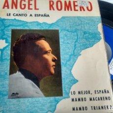 Discos de vinilo: E P (VINILO) DE ANGEL ROMERO AÑOS 60. Lote 146799678