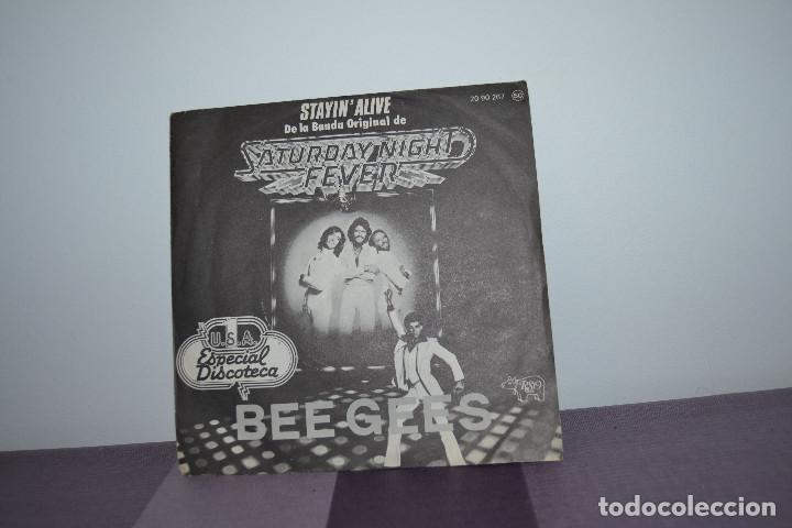 Discos de vinilo: STAYIN ALIVE DE BEE GEES - Foto 2 - 146802702