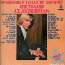 Discos de vinilo: RICHARD CLAYDERMAN - 16 GRANDES TEMAS DE SIEMPRE - LP DELPHINE RECORDS 1979 RF-7150. Lote 146851586