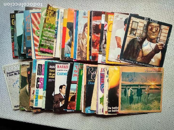 LOTE DE 61 DISCOS VINILO SINGLE MUSICA TODO MUSICA ESPAÑOLA O LATINA (Musik - Vinyl-Schallplatten - Singles - Andere Stile)
