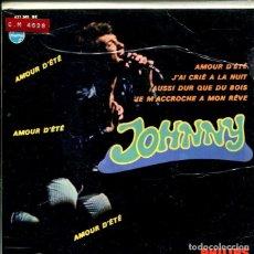 Discos de vinilo: JOHNNY HALLYDAY / AMOUR D'ETE + 3 (EP 1967). Lote 146865302