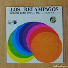 Discos de vinilo: LOS RELAMPAGOS - FANTASIA DE EL AMOR BRUJO + 2 - EP. Lote 146875833