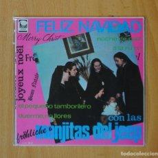 Discos de vinilo: LAS MONJITAS DEL JEEP - EL PEQUEÑO TAMBORILERO + 3 - EP. Lote 146877144