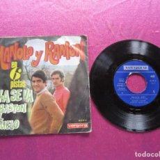 Discos de vinilo: MANOLO Y RAMON EN 6 PISTAS SG VERGARA. Lote 146878246