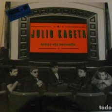 Discos de vinilo: JULIO KAGETA - BIHAR ETA BERANDU 1991 ENCARTE. Lote 146879970