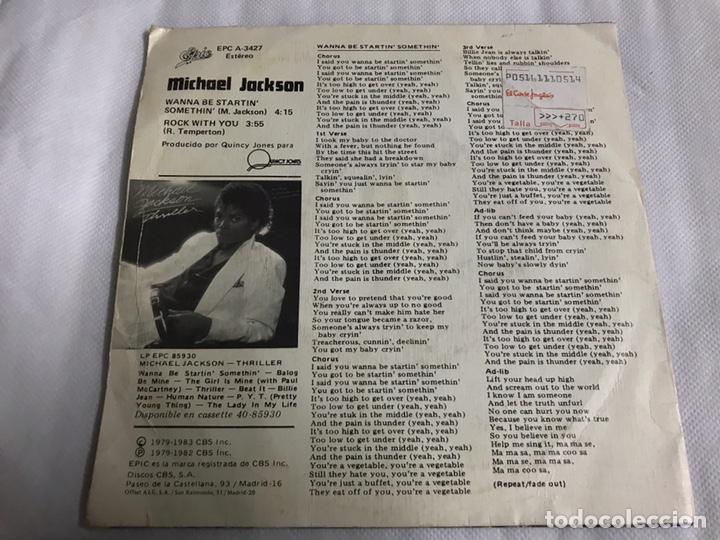 Discos de vinilo: EP MICHAEL JACKSON. WANNA BE STARTIN SOMETHIN - Foto 2 - 146883337