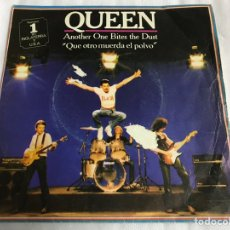 Discos de vinilo: EP QUEEN . ANOTHER ONE BITES THE DUST. Lote 146883493