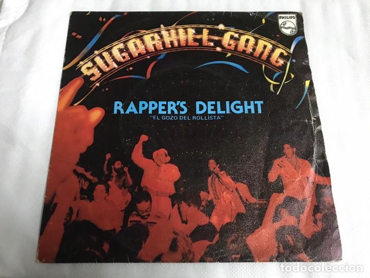 EP RAPPERS DELIGHT. SUGARHILL GANG (Música - Discos de Vinilo - EPs - Pop - Rock Extranjero de los 70)