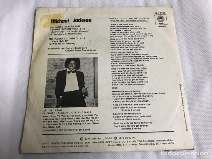 Discos de vinilo: EP MICHAEL JACKSON. NO PARES ( HASTA QUE TENGAS SUFICIENTE ) - Foto 2 - 146885698