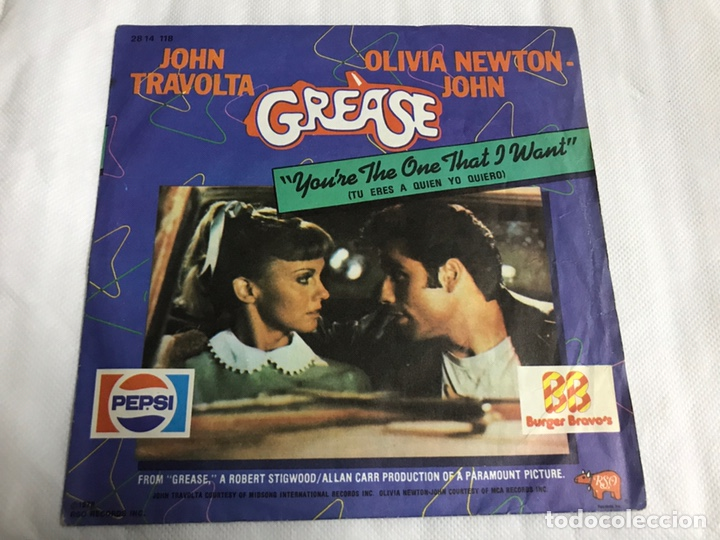 EP GREASE. YOU'RE THE ONE THAT I WANT . BURGUER BRAVO'S (Música - Discos de Vinilo - EPs - Pop - Rock Extranjero de los 70)