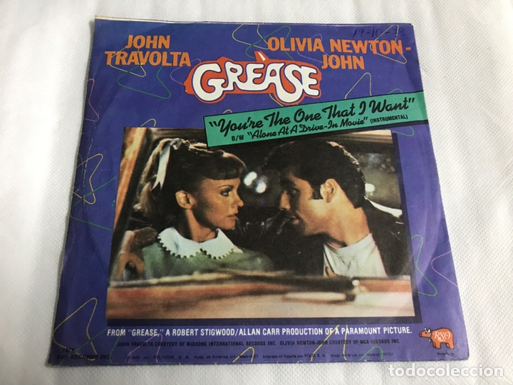 Discos de vinilo: EP GREASE. YOU'RE THE ONE THAT I WANT . BURGUER BRAVO'S - Foto 2 - 146886238
