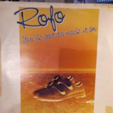 Discos de vinilo: ROFO-YOU'VE GOT TO MOVIE IT ON. Lote 146896917