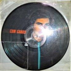 Discos de vinilo: CAMILO SESTO - CON GANAS 1982 FOTO DISCO EDICIÓN LIMITADA (MUY RARO). Lote 146903330