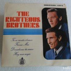 Discos de vinilo: THE RIGHTEOUS BROTHERS -TU NO SIENTES EL AMOR + 3 EP 1965. Lote 146906858