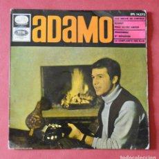 Discos de vinilo: ADAMO - UNE MECHE DE CHEVEUX - UN MECHON DE TUS CABELLOS. Lote 146916998