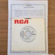 Discos de vinilo: JAYME MARQUES SO MUCH FEELING PROMO CON HOJA PROMOCIONAL RCA. Lote 146931754