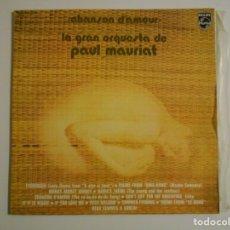 Discos de vinilo: CHANSON D'AMOUR. LA GRAN ORQUESTA DE PAUL MAURIAT. LP VINILO PHILIPS CON 12 CANCIONES.. Lote 146932238
