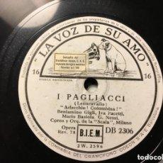 Discos de vinilo: I PAGLIACCI : PIZARRA 6 DISCOS. Lote 146933050
