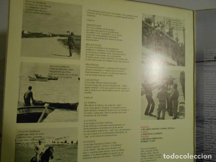 Discos de vinilo: ANDALUCIA ESPIRITUAL DE FELIPE CAMPUZANO. VOL. 1. CADIZ. LP VINILO. 7 TEMAS. - Foto 2 - 146940462